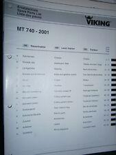 VIKING tracteur tondeuse MT740 MT 740 à partir de 2001: catalogue de pièces 2002