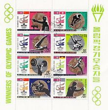 (74828) Korea CTO Olympics Winners Minisheet 1980 - very fine used