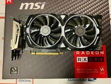 MSI Graphics Card Radeon RX 580 ARMOR 4GB OC 256-bit DirectX 12 AMD