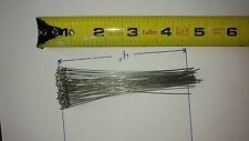 "100, 4"" .026 Stainless Steel looped lure shafts  Wire. Perfect trout lure size."
