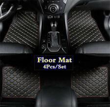 4Pcs PU Leather Front Rear Car Floor Mat Liner Auto Carpet Pad Set Accessories