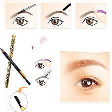 Leopard Grain Waterproof Eyebrow Pencil With Eyebrow Brush Sweatproof Black