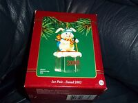 ICE PALS BUNNY RABBIT &  MOUSE 2003 Carlton Christmas ornament -12th in series