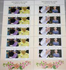 SOLOMON SALOMON ISL. 2005 Klb 1232-43 MS 1007-12 Queen Elizabeth Royal Year MNH