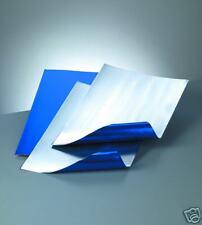 A4 ALUMINIUM EMBOSSING METAL SHEET BLUE / SILVER 0.15mm