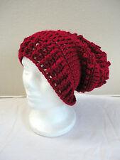 BoHo Hippie COACHELLA Chic RED Multiple French Beret Tam BEANIE Cap Hat sz S/M