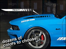 2010 2011 2012 2013 Ford Mustang Hood Cowl Buldge Spear Decals GT  Style #3