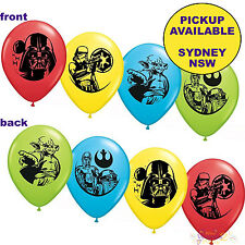 STAR WARS PARTY SUPPLIES 6 LATEX BALLOONS BIRTHDAY DECORATIONS