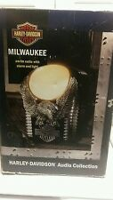 Rare HARLEY DAVIDSON METAL EAGLE! AM/FM Alarm Radio W/LIGHT Milwaukee WORKING