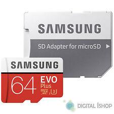 Samsung 64gb EVO Plus Uhs-i Micro SDXC Memory Card With SD Adapter Mb-mc64ga