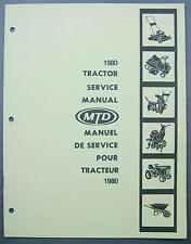 Original 1980 MTD Tractor Service Manual Lawnflite Classic Turf Trac Eng/Fre