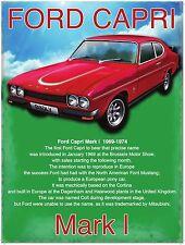 Ford Capri GT Mark 1 Classic/Vintage Sports Car Medium Metal/Tin Sign