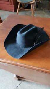 4 X BullHide Montecarlo Black Cowboy Western Hat Size 7-1/8