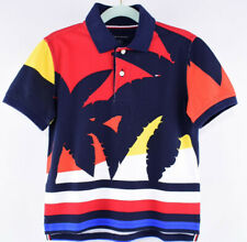 TOMMY HILFIGER Boys' Kids Printed Polo Shirt, Multicoloured, size 6-7 years