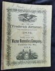 1894 Frederick Almanac Victor Remedies MD Tarner Grocer Oysters Chambersburg PA