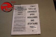 53-63 Chevy Body Mouldings Attaching Parts Book Manual
