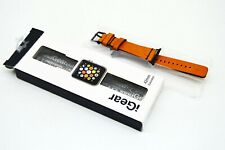 iGearUSA - Leather Watch Strap for Apple Watch Bronze/Buckskin brown