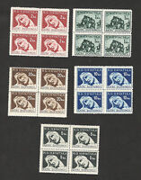 CROATIA-NDH-MNH**  BLOCK OF  STAMPS-Tax stamp-War Victims-1944.
