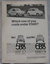 1967 Fiat 500 & 600 Original advert
