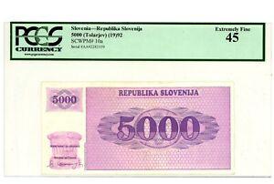 Slovenia ... P-10a ... 5000 Tolarjev ... 1992 ... *XF+*.