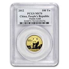 2012 China 1/4 oz Gold Panda MS-70 PCGS