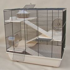 "Hamsterkäfig, Rattenkäfig, Nagerkäfig XXL HOLZAUSSTATTUNG"" REX 3 ""Zubehör beige"