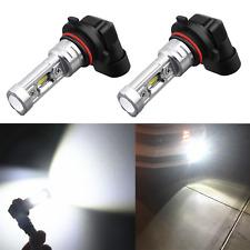 Alla Lighting 2x 2600lm H10 9145 9040 Super White 1919-SMD LED Fog Lights Bulbs