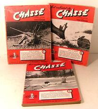 """lot """" les cahiers de la chasse """" n°1-3-5 éditions diane 1949"""