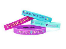 DISNEY FROZEN RUBBER BRACELETS 4 COUNT SEALED! NEW! PRINCESS ANNA! QUEEN ELSA!