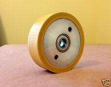 "3-3/4"" x 1-1/4"" Rubber Contact Wheel 1/2"" Bearings for Belt Sander [Knife Making"