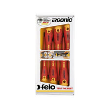 Felo 413 961 98 VDE Ergonic Screwdriver Set 6 Parts