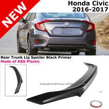 2016 to 2018 For Honda Civic 4D Trunk Rear Lip Spoiler with Black Primer Finish