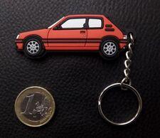 ⭐🇫🇷NEUF PORTE CLE PEUGEOT 205 GTI ROUGE SILICONE SOUPLE KEYRING CADEAU CLEFS