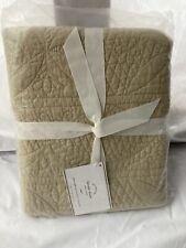 New Pottery Barn Hanna Linen Color Cotton/ Linen Euro Pillow Sham New In Plastic