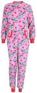 Pink, All In One Piece Pyjama, For Ladies FRIENDS The TV Series