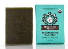 Moon Valley Organics Cleansing Body Bar, Mint And Sea Mineral, 4oz