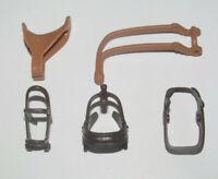Playmobil Lot Accessoire Cheval Equitation Cowboy Selle Marron Clair + 4 Harnais