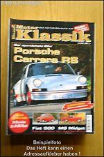 Motor Klassik 1/98 Porsche Carrera RS Fiat 500 Ford