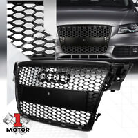 Matte Black ABS Honeycomb Mesh Grille/Grill for 08-11 Audi A4/Quattro B8 Typ 8K