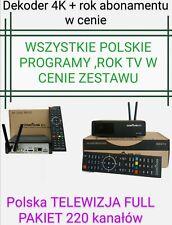 Polska Telewizja12mcy FREE,ZGEMMA h9 4K   FULL PAKIET 220 POLSKICH .vu+, openbox
