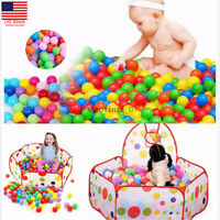 20/50/100X Swim Fun Colorful Soft Plastic Ocean Ball Secure Baby Kid Pit Toy US