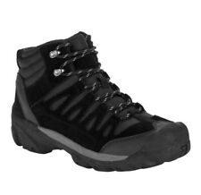 NEW Ozark Trail Mens Size 8.5 Black Leather Bump Toe Hiking Boots Shoes MSRP $30