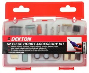 52 Pc Hobby Accessory Kit for use with Mini Drills