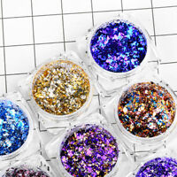 Nail Glitter Powder Holographic Nail Foil Chrome Pigment Sequins Flakes Manicure