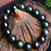 1pcs Obsidian Gemstone bracelet spirituality Fancy Chakas energy natural mala