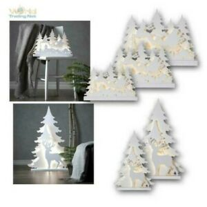 Large Wood Stand, LED Christmas Lights, 5 Motifs, for IN Outdoor IP44