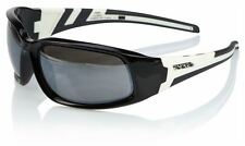 "Eyres Legendary Benz ""Tough As"" 124-S1W-FS Shiny Black/White Flash Silver Lens"