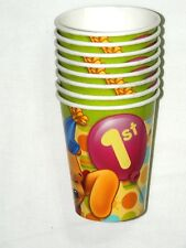 WINNIE THE POOH FIRST BIRTHDAY   8- PAPER CUPS 9 FL. OZ. -  , PARTY SUPPLIES