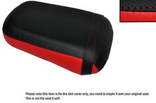 BRIGHT RED & BLACK CUSTOM FITS HONDA VTX 1800 02-04 REAR LEATHER SEAT COVER
