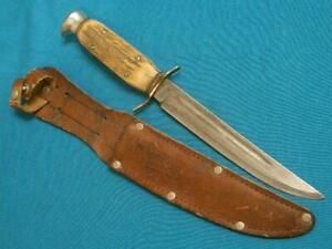 VINTAGE SABRE MONARCH 131 SOLINGEN GERMANY STAG HUNTING BOWIE KNIFE SKINNING OLD